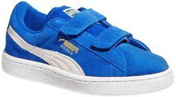 PUMA Suede 2 Straps Sneaker , Cerise/Pool Green/Team Gold, 1