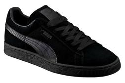 PUMA Suede Classic Leather Black Black Formstrip Mens Sneake