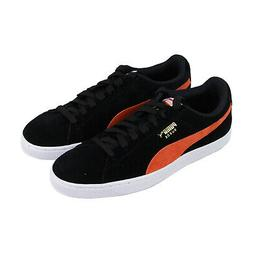 Puma Suede Classic Mens Black Suede Low Top Lace Up Sneakers