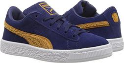 Puma Kids Baby Boy's Suede Classic Terry  Blue Depths/Inca G