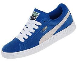 PUMA Suede Junior Sneaker  , Snorkel Blue/White, 4.5 M US Bi