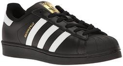 adidas Originals Women's Superstar W, Black/White/Metallic G