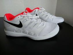 Sz 9 Nike Air Zoom Vapor X Tennis Shoes White Crimson Black
