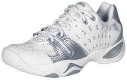 Prince Women's T22 Tennis Shoe,White/Silver,9 M US