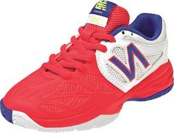 Girl's New Balance Tennis Shoe White/ Pink 12.5 W