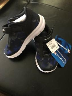 Champion Toddler 💫Tennis Shoes Black /blue  Sz 6 NWT 💫