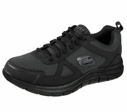 Skechers Track-Bucolo Mens Black Lace Up Gym Memory Foam Spo