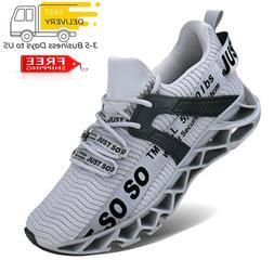 UMYOGO Mens Athletic Walking Blade Running Tennis Shoes Fash