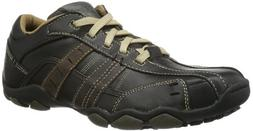 Skechers USA Men's Diameter Vassell Oxford,Black/Tan,10.5 M