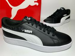 USED PUMA Smash V2 Leather Perf Sneakers Men's Shoes ~ Black
