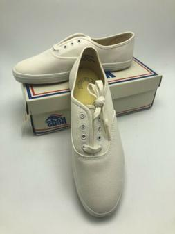 Vintage KEDS Champion Oxford Tennis Shoes Canvas White Women