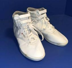 Vintage Women's Trax Aerobix white high top hip hop sneakers