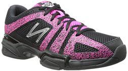 New Balance Women's WC1005 Tennis Shoe,Black/Pink,5.5 B US