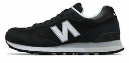 New Balance Women's 515 Classic Shoes Black with Silver