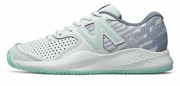 New Balance Women's 696v3 Tennis Shoes White with Blue