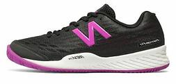 New Balance Women's 896V2 Tennis Shoes Black With Purple