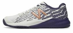 New Balance Women's 996v3 Tennis Shoes White with Blue