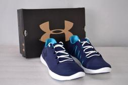Women's Under Armour Street Precision Low Tennis Shoes Navy