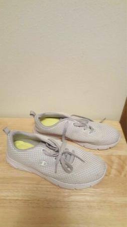 Champion Women size 9.5 white gray Tennis shoes Lightweight