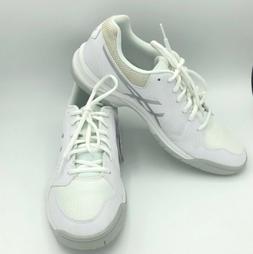 ASICS Womens Gel-Dedicate 5 White/Silver Tennis Shoes Size 1