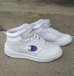 Champion womens/girls mid hi top sneakers tennis shoes, whit