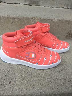 Champion womens/girls mid hi top sneakers tennis shoes, salm