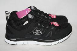 WOMENS SKECHERS LIGHTWEIGHT BLACK SHOES MEMORY FOAM-SEE LIST