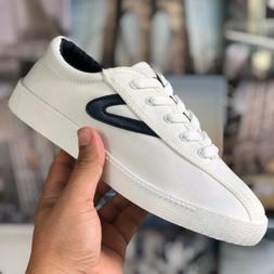 🔥 Tretorn Women's Shoes Size 5 White Navy Blue Boys Siz