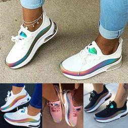 Womens Walking Sneakers Breathable Trainers Sport Mesh Tenni
