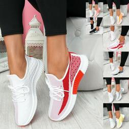 Womens Walking Sneakers Breathable Trainers Sport Tennis Com